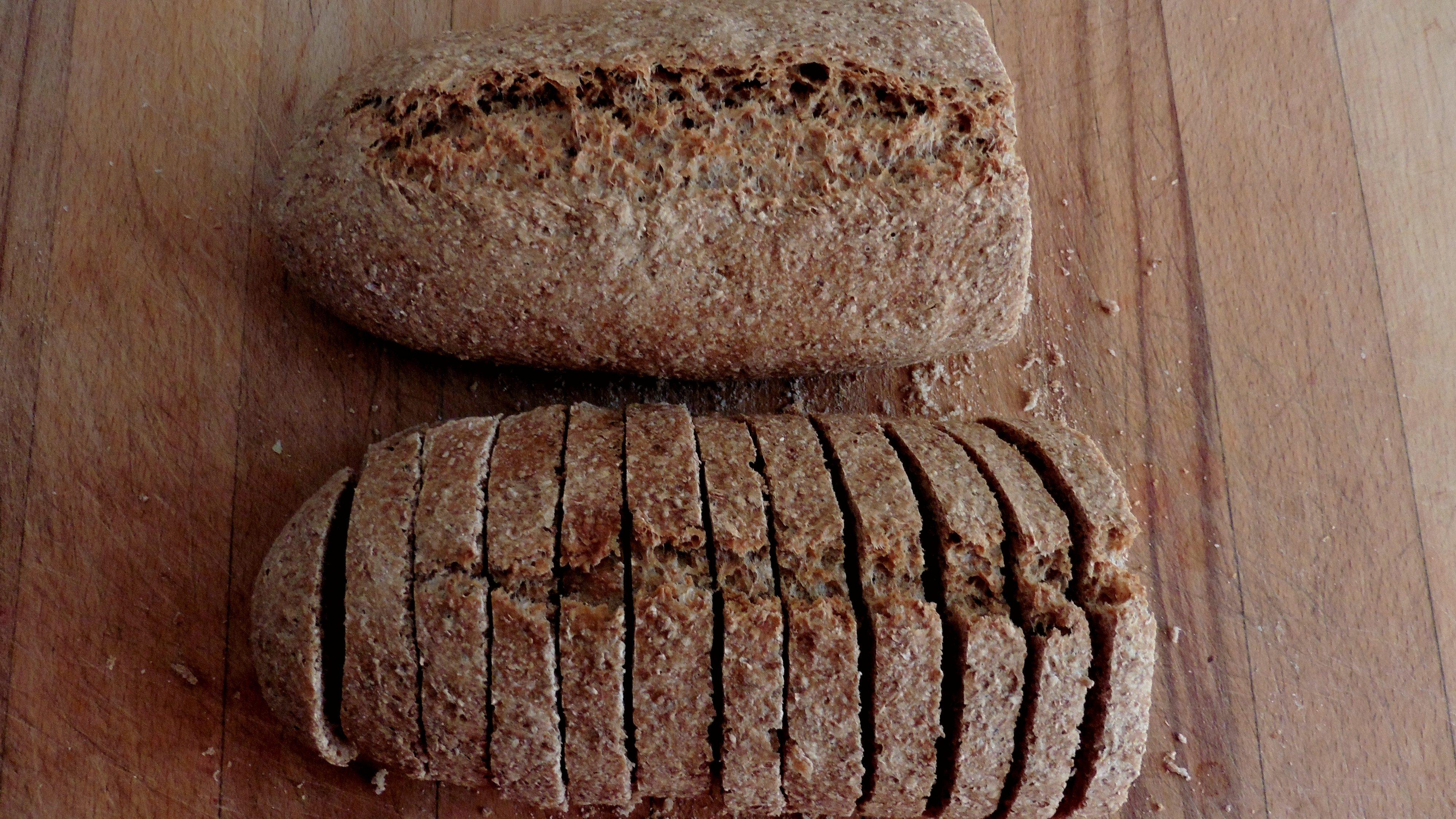 Pan integral casero con prefermentos
